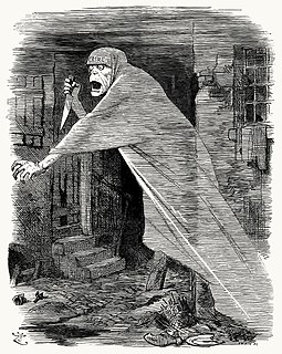 The 'Nemesis of Neglect': Jack the Ripper depicted as a phantom stalking Whitechapel, and as an embodiment of social neglect, in a Punch cartoon of 1888. Jack-the-Ripper-The-Nemesis-of-Neglect-Punch-London-Charivari-cartoon-poem-1888-09-29.jpg