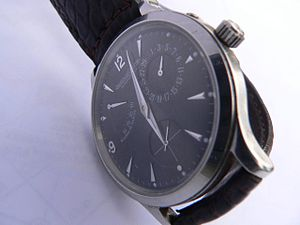 Jaeger-LeCoultre - Jaeger-Lecoultre mechanical automatic movement watch with day of the month complication and power reserve indicator