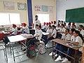 Jagseer S Sidhu teaching school students about Wikipedia.jpg