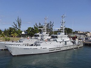 Illegal, unreported and unregulated fishing - Patrol vessels like this Jamaican Coast Guard vessel are used for fisheries protection