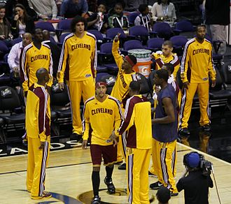 2010–11 Cleveland Cavaliers season - The Cavaliers being introduced at the Verizon Center on November 6, 2010.
