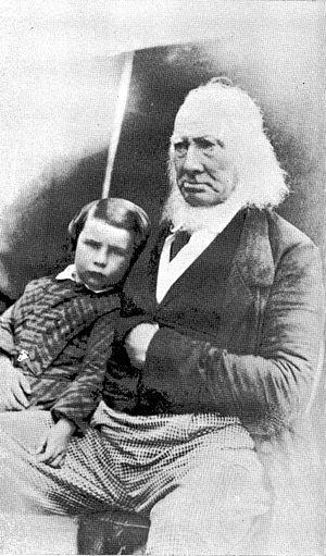 James Drummond (botanist) - James Drummond with one of his grandchildren