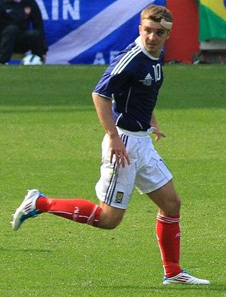 James Morrison (footballer) - Morrison playing for Scotland in 2011