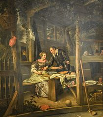 Two Lovers under an Arbour