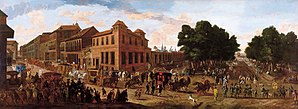 Jan van Kessel the Younger - View of the Carrera de San Jerónimo and the Paseo del Prado with a Procession of Carriages