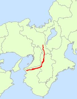 Japan National Route 24 road in Japan