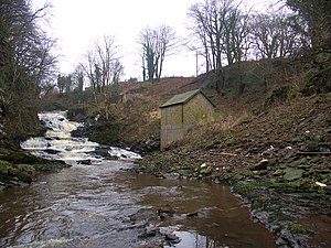 Carstairs House Tramway - Power station at Jarviswood