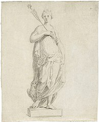 Drawing for a statue of Juno or Morning