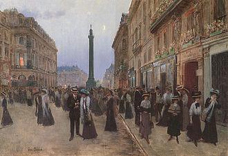 Rue de la Paix, Paris - Rue de la Paix by Jean Béraud