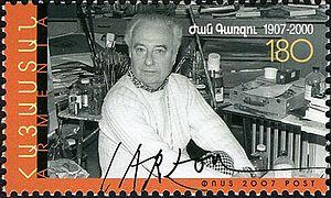 Jean Carzou - Carzou on a 2007 Armenian stamp