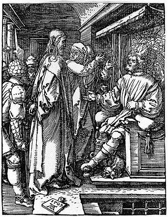 Herod Antipas - Jesus before Herod Antipas, Albrecht Dürer, 1509