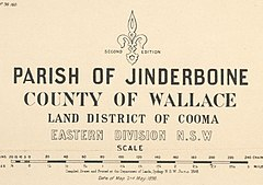 Jinderboine 1898 cadastral map key