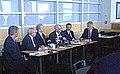 Joe Lieberman and Chris Dodd discuss home heating oil prices.jpg