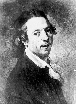 Johann Georg Edlinger - Self portrait, 1786, now in the Städtische Kunstsammlungen, Augsburg