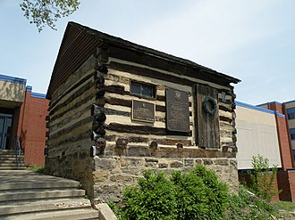 Canonsburg, Pennsylvania - Image: John Mc Millan Log School 1780s