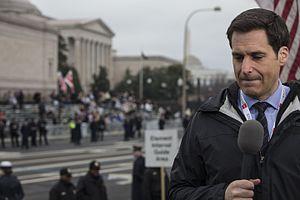 John Berman - Berman reporting during the 2017 Presidential Inaugural Parade