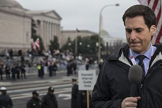 John Berman - Berman reporting during the 2017 Presidential Inaugural Parade