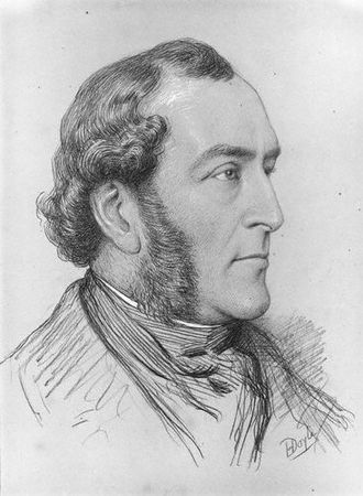 John Doyle (artist) - sketched in chalk by his son Henry Edward Doyle
