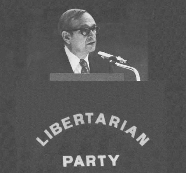 John Hospers, 1972 presidential candidate of the fledgling Libertarian Party.