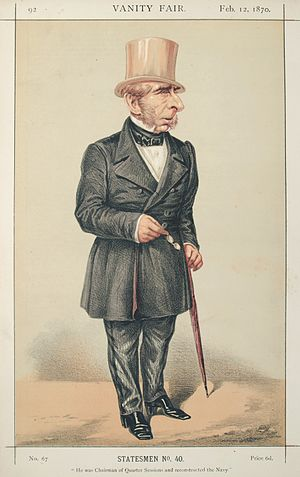 "John Pakington, 1st Baron Hampton - Pakington caricatured by ""ATn"" in Vanity Fair, 1870"