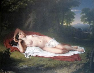 John Vanderlyn - Ariadne Asleep on the Island of Naxos (1809-14), Pennsylvania Academy of the Fine Arts, Philadelphia.