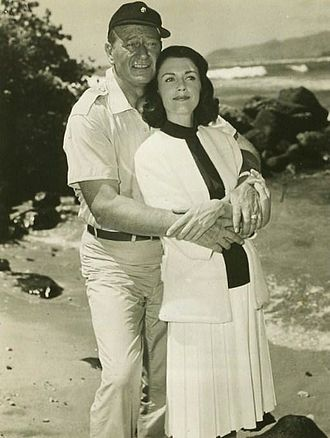 Elizabeth Allen (actress) - With John Wayne in Donovan's Reef (1963)