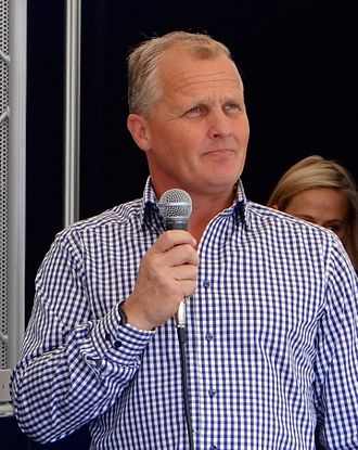 Johnny Herbert - Herbert at the 2014 Goodwood Festival of Speed.