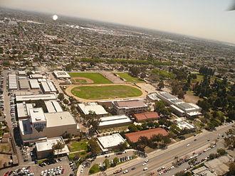 Jordan High School (Long Beach, California) - Image: Jordan High School Long Beach California Aerial View