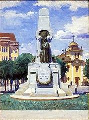 Monumento a Bartolomeu de Gusmão em Santos (Face Posterior)