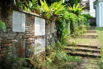 Temple Street, Singapore - José d'Almeida's tomb at Fort Canning Old Cemetery