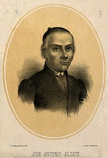 Jose Antonio Alzate. Lithograph by S. Hernandez. Wellcome V0000142.jpg