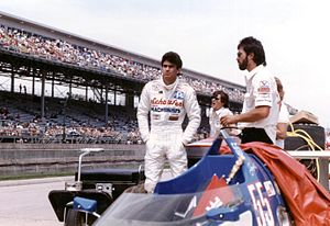 Josele Garza - Garza at the 1986 Indianapolis 500