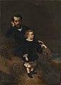 Joseph Coomans - Self-portrait of the painter with his son Oscar.jpg