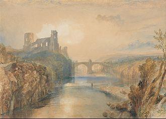 Barnard Castle (castle) - Painting of Barnard Castle, by J. M. W. Turner (c. 1825)