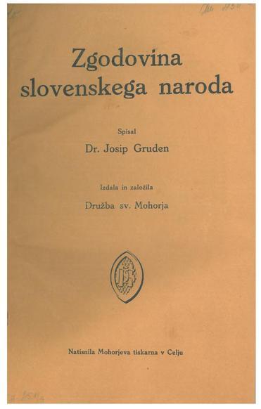 File:Josip Gruden - Zgodovina slovenskega naroda. Tretji del. Novi vek.pdf