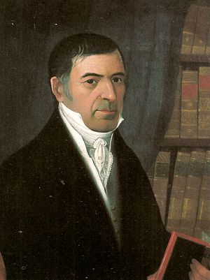 Cristóbal Mendoza - Portrait by Juan Lovera