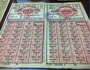 Socialist Federal Republic of Yugoslavia - Yugoslavian ration stamps for milk, 1950