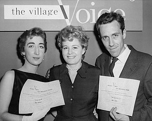 Obie Award - Julie Bovasso, Shelley Winters and Jason Robards at the 1956 Obie Awards