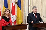 Julie Payette with Petro Poroshenko in Ukraine - 2018 - (1516277010d).jpg