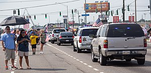 2016 shooting of Baton Rouge police officers - Funeral procession for one of the fallen officers on July 23, 2016.