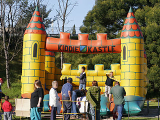 Inflatable castle Temporary inflatable structure for play