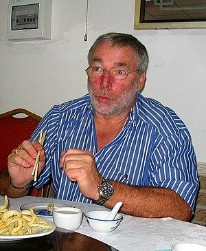 Jürgen Barth - Jürgen Barth 2010, enjoying a Chinese meal in Zhuhai, China.