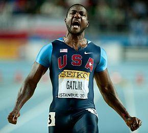 Justin Gatlin ai Mondiali indoor di Istanbul 2012