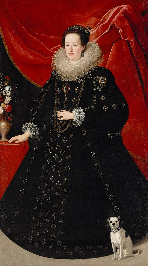 Portrait of Eleonore von Gonzaga (1598-1655), Empress in Black Dress