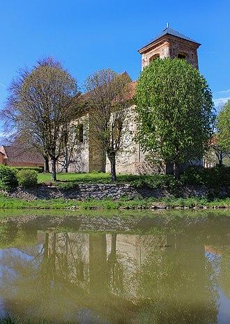 Kšice - Image: Kšice, church