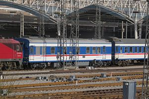 Head-end power - A KD25K generator car in a passenger train