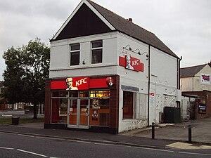 English: KFC restaurant on the A553 Laird Stre...