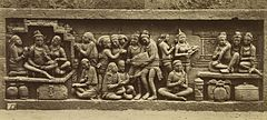 KITLV 40092 - Kassian Céphas - Relief of the hidden base of Borobudur - 1890-1891.jpg