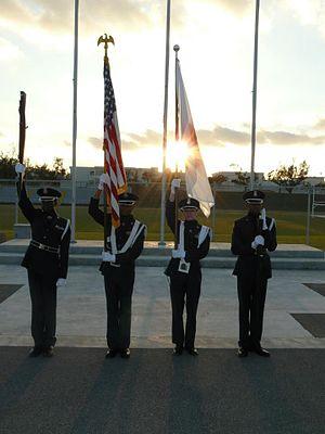 Kadena High School - JA-932 Color Guard.