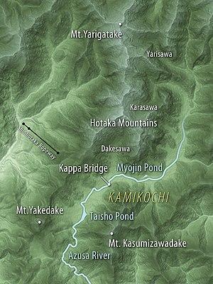 Kamikōchi - Map